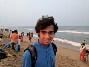 My son at Marina beach